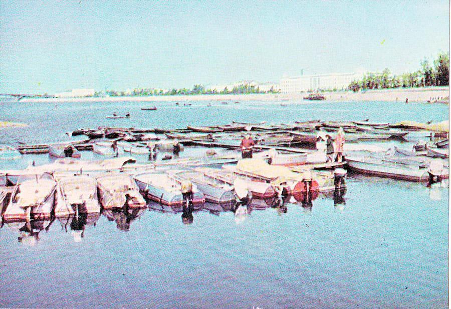 Иркутск. Лодочная станция на Ингде. 1967