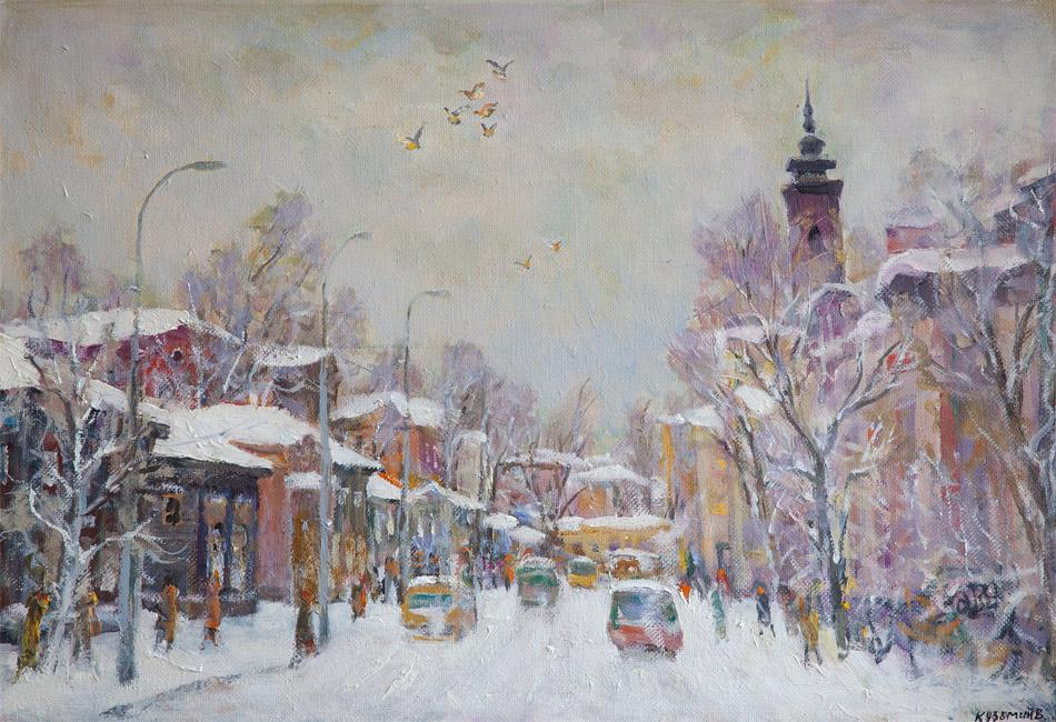 Иркутск. Улица Тимирязева. 2008, х. м., 62х90