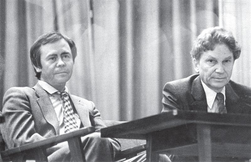 Слева направо: В. Распутин, А. Шастин
