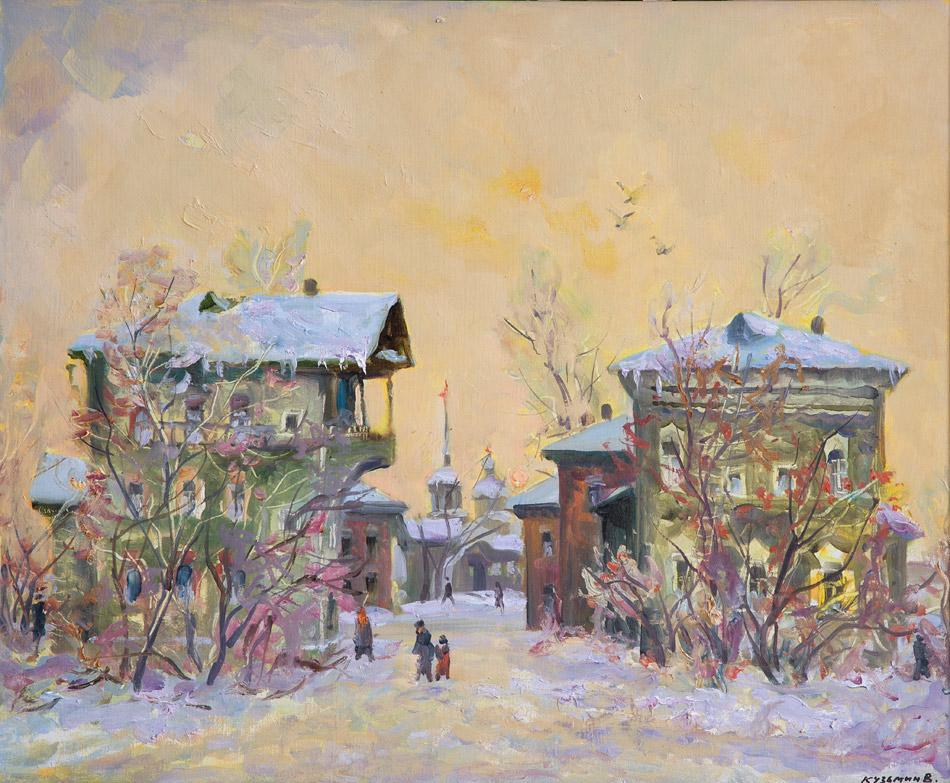 Старые дома Иркутска. 2009, х. м., 62х75