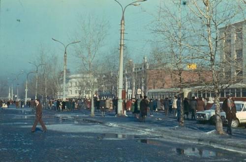 Трамвайная остановка на Цетральном рынке