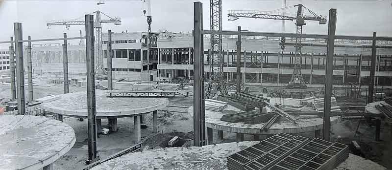 Строительство Зиминского химического комбината, начало 70-х г.г.