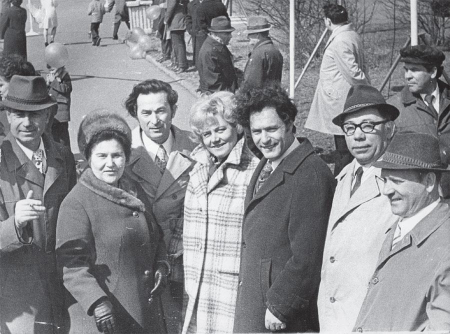 Слева направо: В. Козловский, Л. Тетелев, М. Сергеев, В. Соколов