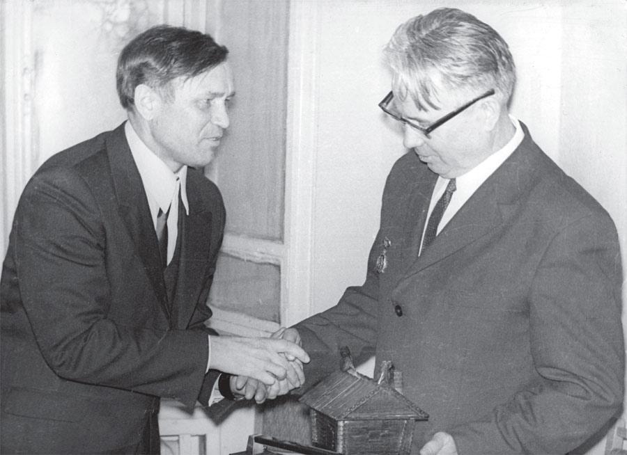 Слева направо: О. Сергеев, А. Зверев
