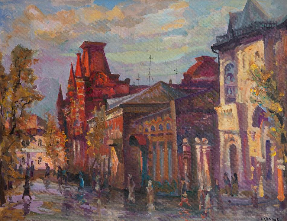 Улица Медведниковская. 2009, х. м., 70х90