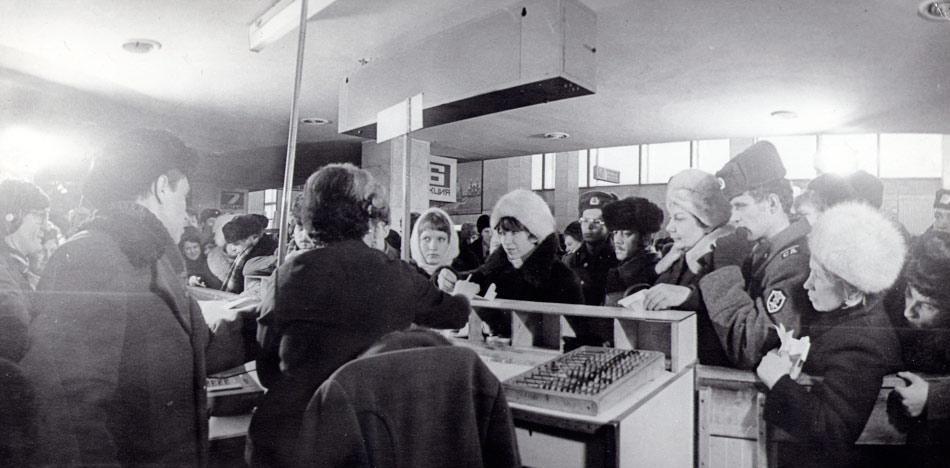 Встреча миллионного пассажира. Иркутский аэропорт, 1970 год