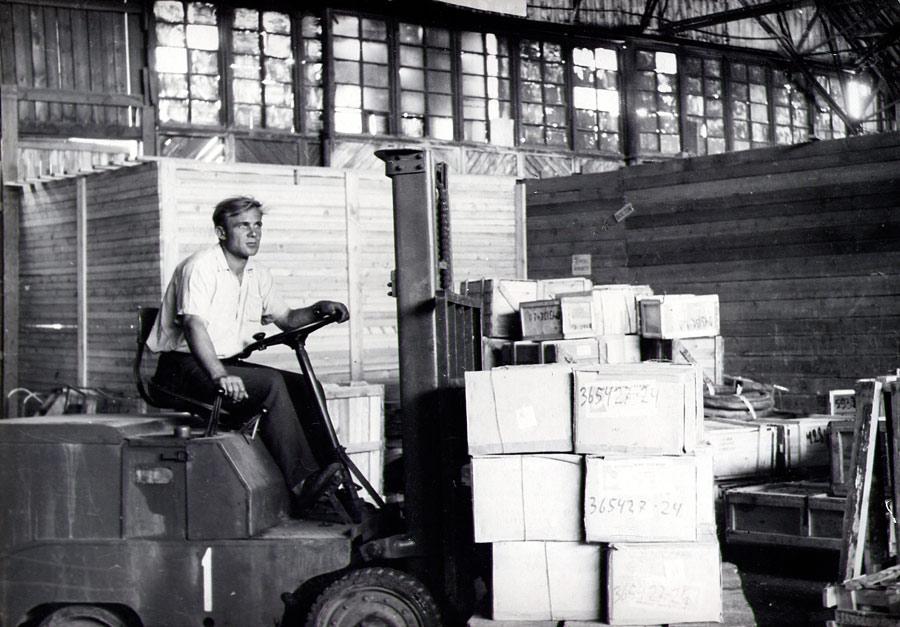 Иркутский аэропорт. Грузовой склад. 1960-е