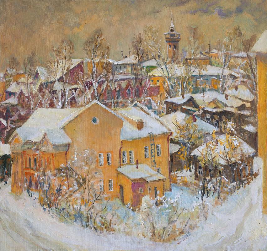 Жёлтый дом. 2011, х. м., 80х85
