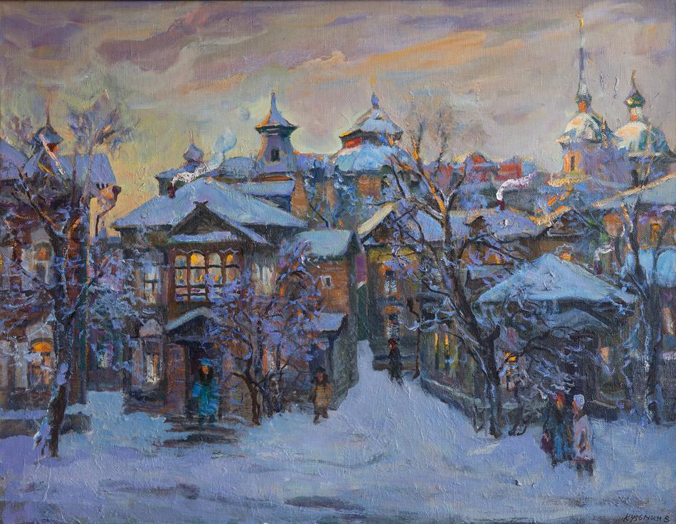 Вечерний город. 2005, х. м., 80х104