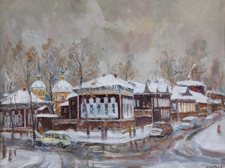 Свежий снег. 2011, х. м., 60х80 (Иркутск, Владимир Кузьмин)