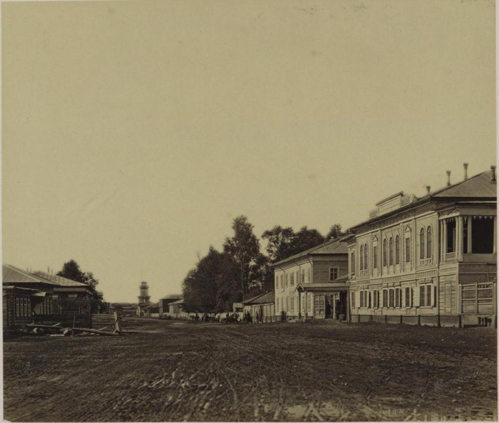 Шеламниковская улица. Дом губернатора. Общественный (интендантский) сад.