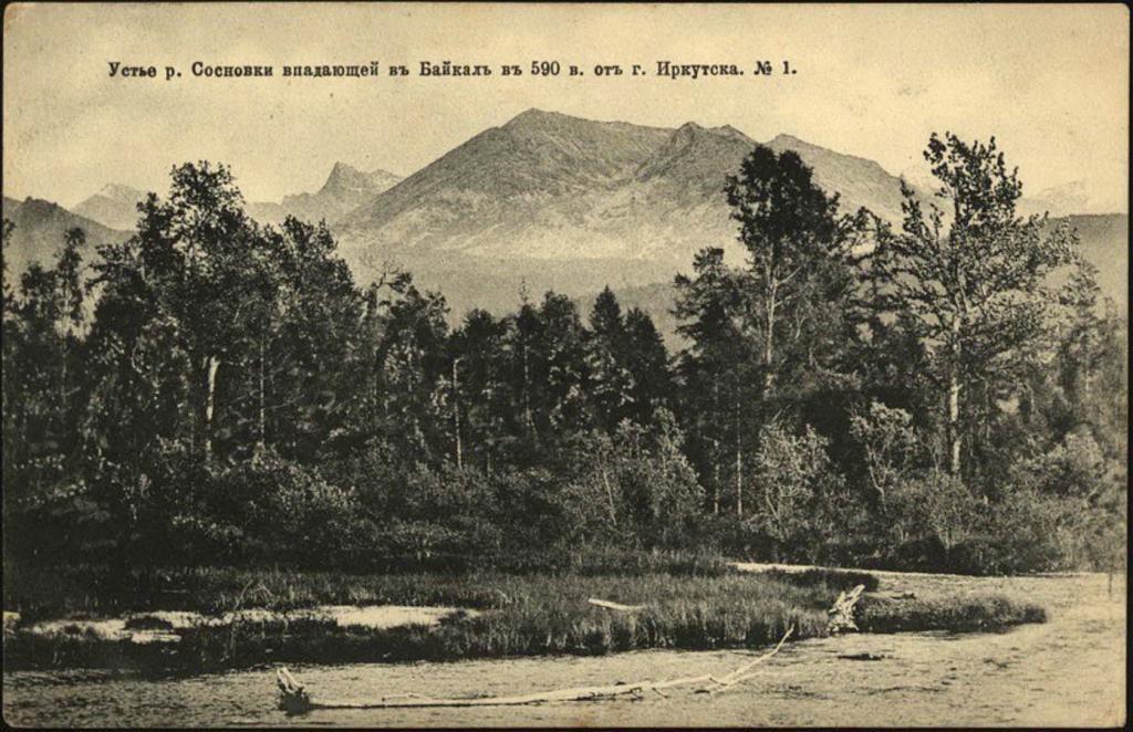 Устье реки Сосновки, впадающей в Байкал в 590 верстах от города Иркутска