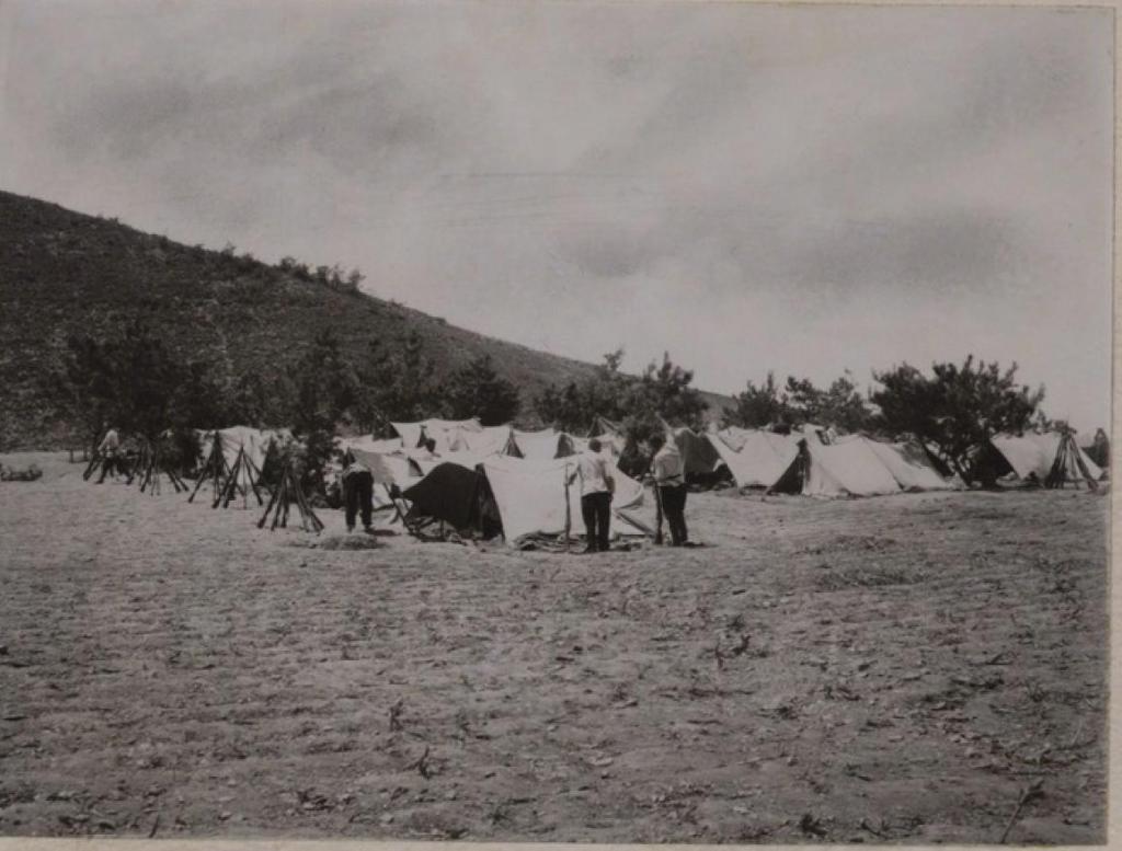 На биваке у деревни Самучен