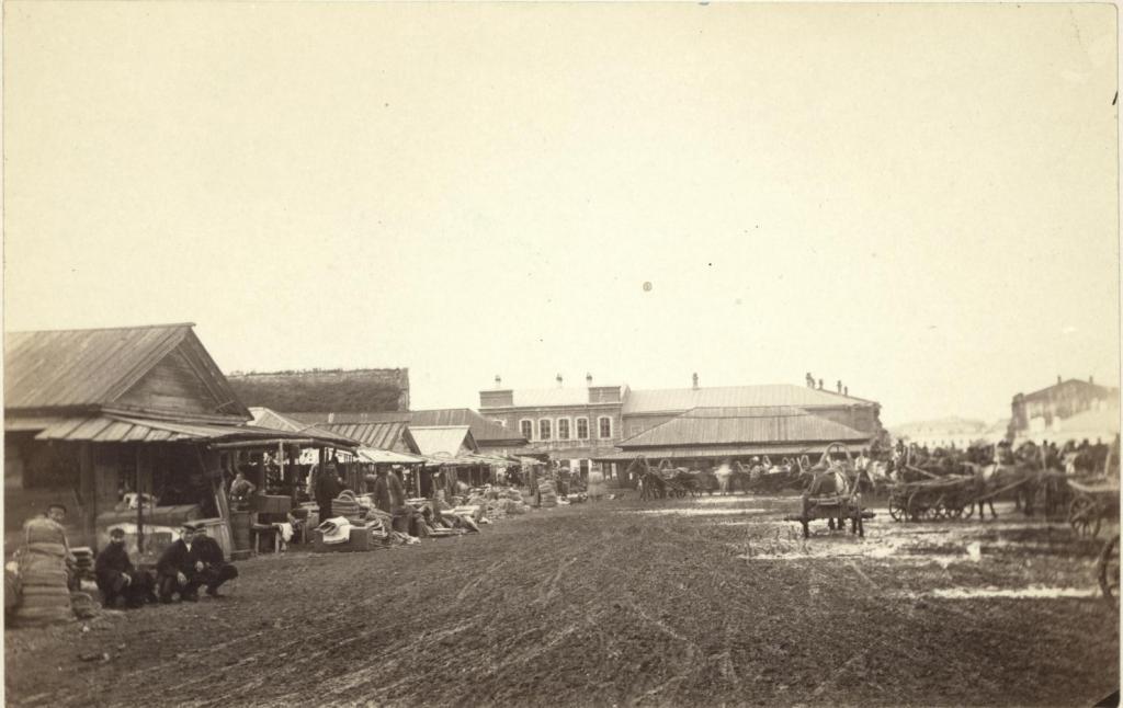 Рынок в Иркутске. 1885