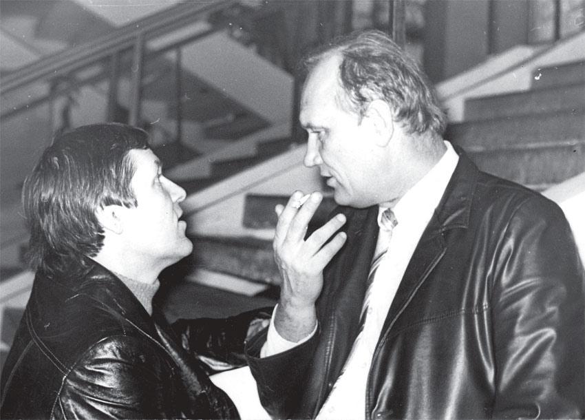 Иркутские писатели. Слева направо: Е. , Р. Филиппов