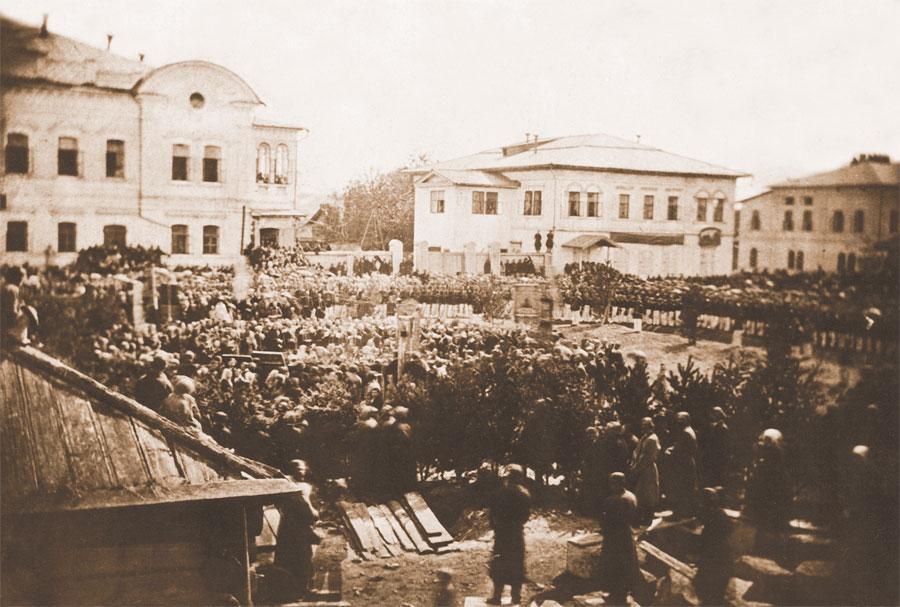 Церемония закладки часовни Христа Спасителя. Фото А. К. Гофмана. 1866. Собрание ИОКМ
