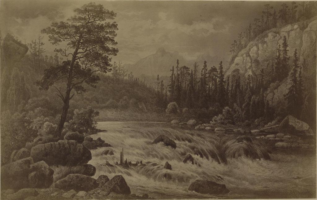 Вид близ Ниловской пустыни; С картины С.Е.Вронского.