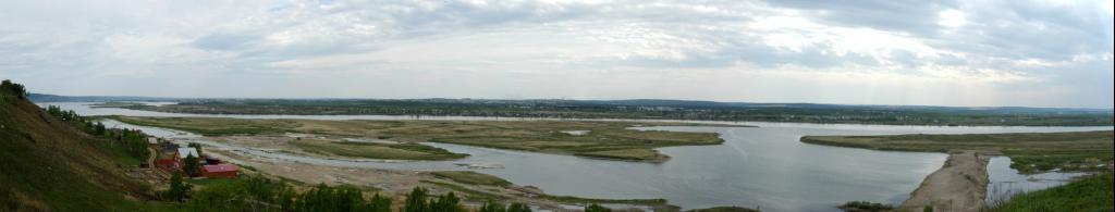 Вид на Ангару с устья Куды