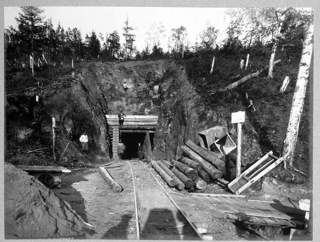 Нижний ход половинного тоннеля на 36 версте.