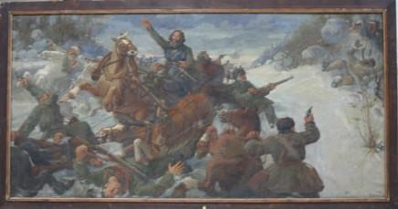 "Картина П.Романова ""Гибель Каландаришвили"", 1940г."