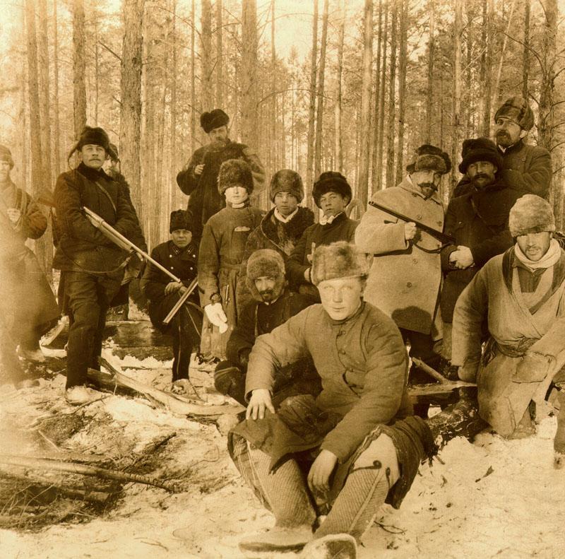 На Билектур. Привал. 13 ноября 1905 г.