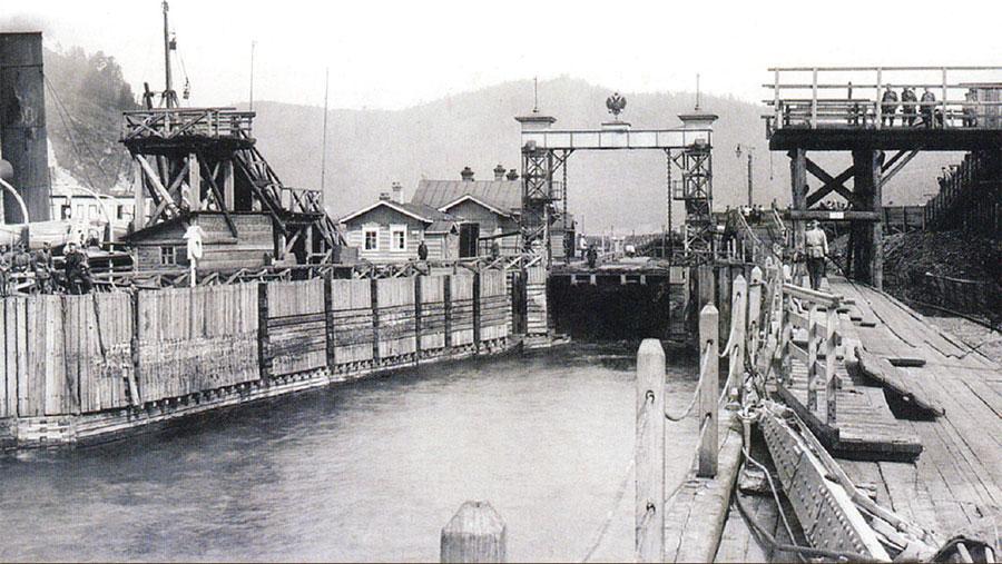 Пристань порта Байкал. 1902.