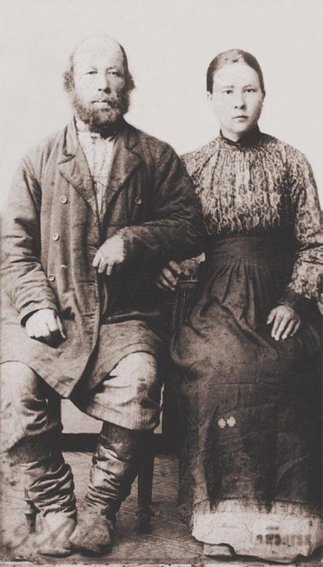 Крестьянин из села Тихонова Падь В. К. Алалыкин с дочерью Екатериной