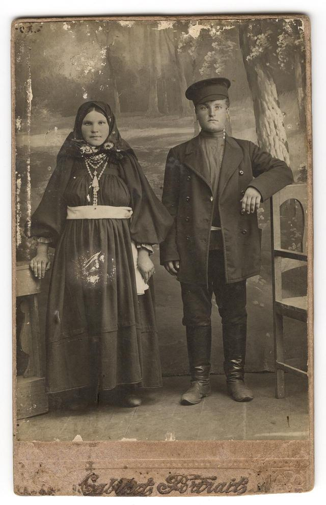 Молодая супружеская чета из крестьян или небогатых горожан