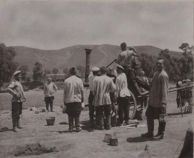 19 Восточно-Сибирский стрелковый полк. Раздача пищи