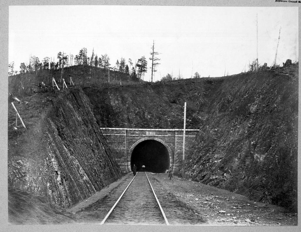 Тоннель №12 длиной 365 саженей на 36 версте.