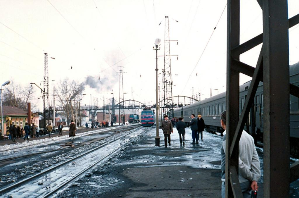 Транссибирская магистраль - 1990 год. Станция Зима.