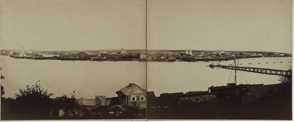Вид Иркутска со стороны Глазковского предместья.