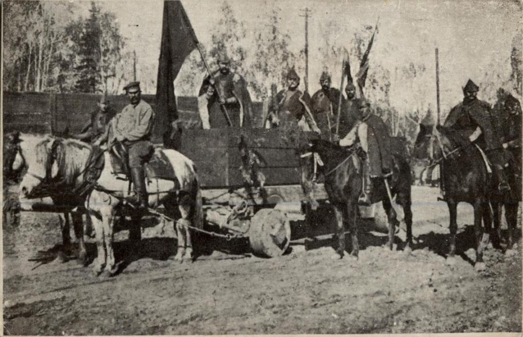 Чехословацкий отряд на параде в Иркутске по поводу освобождения от большевиков.