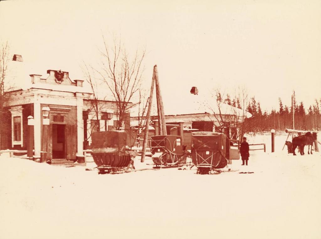Почтовая станция возле Иркутска