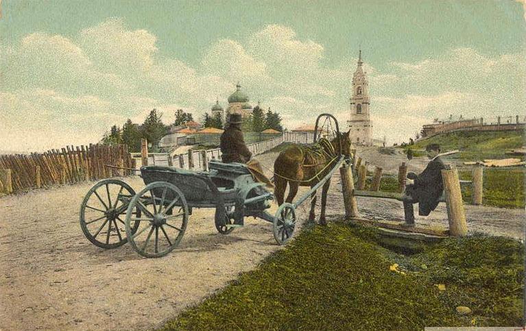 Ст. Иннокентьевская. Вид на монастырь