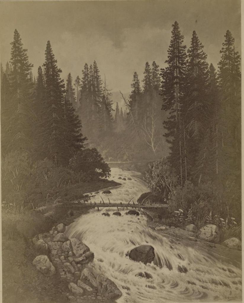 Верховье реки Быстрой за Култуком; С картины С.Е.Вронского.