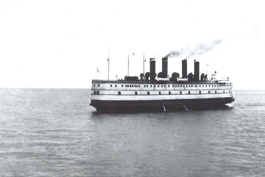 Ледокол-паром «Байкал» в плавании. Начало ХХ в.