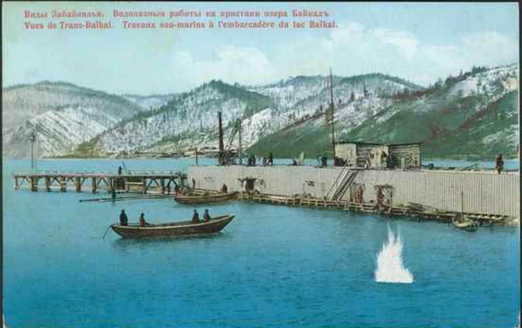 Водолазные работы на пристани озера Байкал