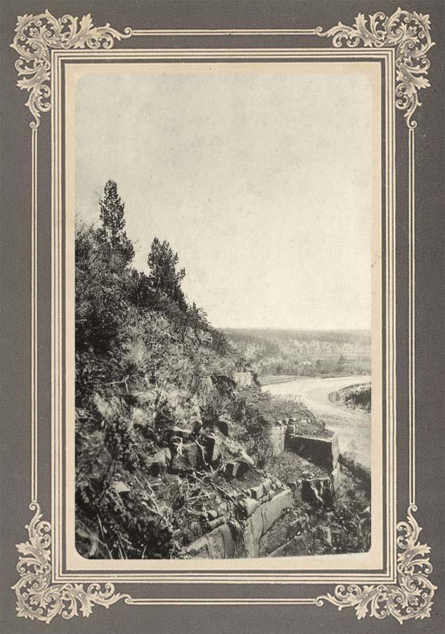 Обрыв у поворота реки Уды