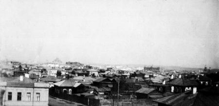 Панорама Иркутска. Начало XX в. Автор неизвестен. Из коллекции Игоря Булыгина (Иркутск)