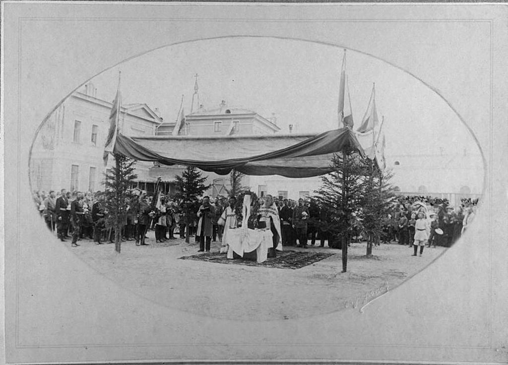 Добровольное пожарное общество. Молебствие 8 июля 1894 года.