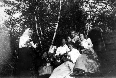 Автор неизвестен. По грибы. Окрестности Иркутска, 1917 г.