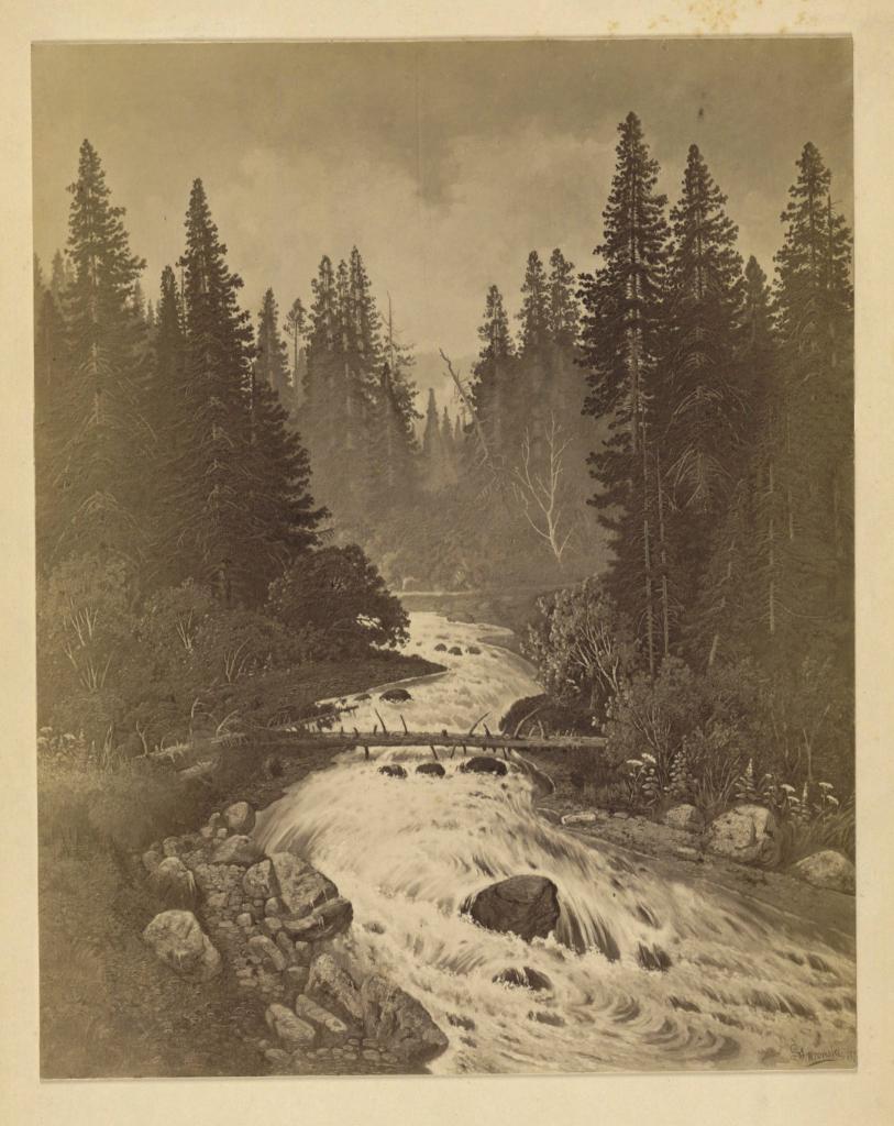 Верховье реки Быстрой за Култуком; С картины С.Е.Вронского