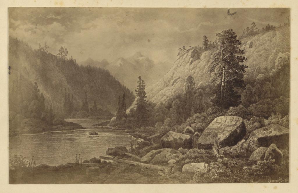Вид близ Ниловской пустыни; С картины С.Е.Вронского