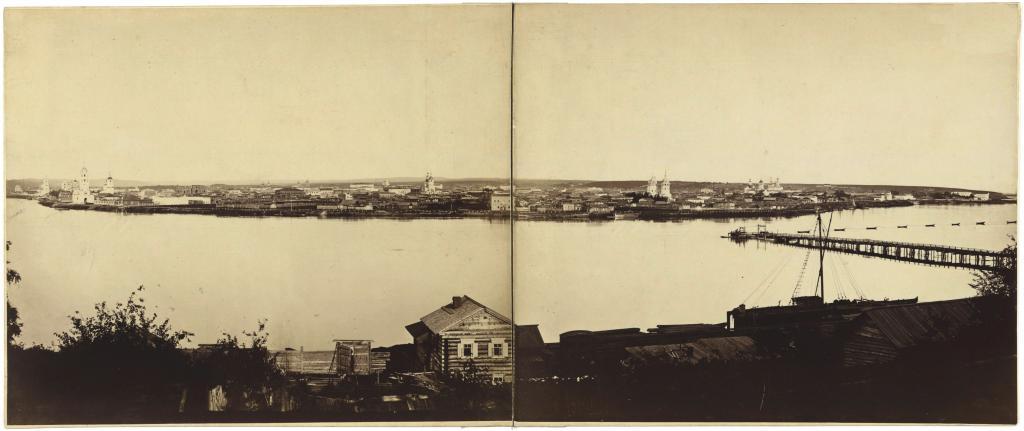 Вид Иркутска со стороны Глазковского предместья