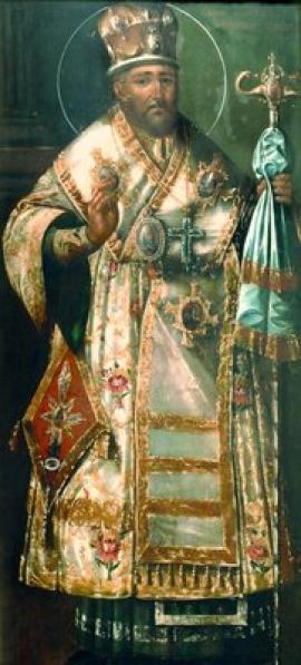 """Начало XIX в. """"Святой Иннокентий (Кульчицкий), епископ Иркутский"""". Собор Знаменского монастыря в Иркутске"""