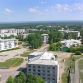 Вид на посёлок Чунский