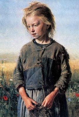"""""""Нищая"""" И. Е. Репин, 1874.  Холст, масло. Собственность Иркутского художественного музея"""