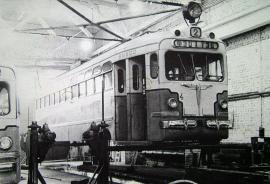 Конец 1950-х гг.  МТВ - 82. В депо. Между 1953 и 1975 гг. в Ангарске работало 46 вагонов этого типа.