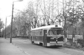 1989 г. РВЗ - 6. На улицах города. Одноколейная линия.